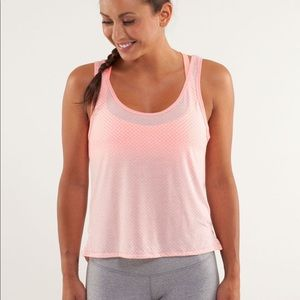 lululemon Burn It Out Tank Bleached Coral Small 6